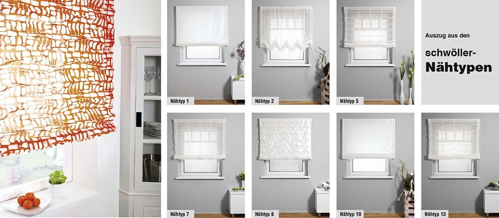 perfekte kombi aus gardine rollo von schw ller. Black Bedroom Furniture Sets. Home Design Ideas